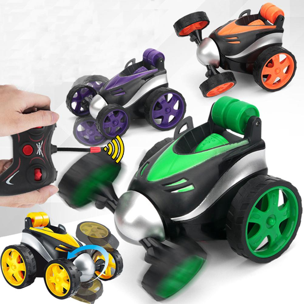 Kuulee Wireless Remote Control Tumbling Stunt Tilting Cart Electric Car Toy For Kids Boy