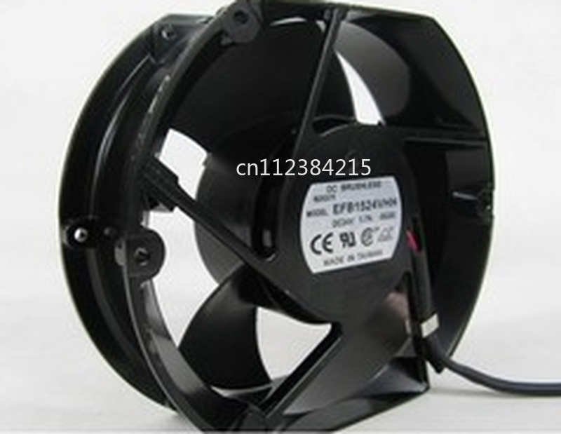 Free Shipping EFB1524VHH DC24V 1.7A 172*150*51MM 17250 17cm High Speed Axial Cooling Fan