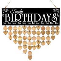 Поделки из натурального дерева висячие календарь декоративное украшение предмет интерьера деревянные стены кулон День рождения календарь...