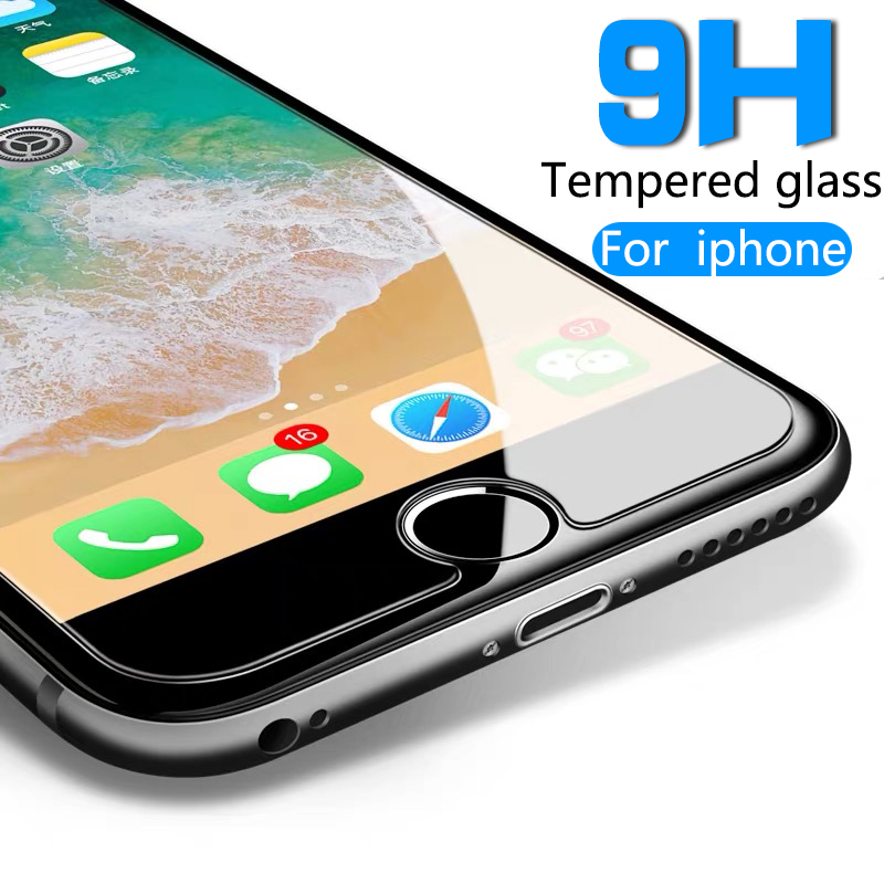 Dla iPhone 5 5S 6 6S 7 8 Plus X XR XS 11 Pro Max Tempered Glass Screen Protector Film Odporny na wybuch 6S na szkle ochronnym