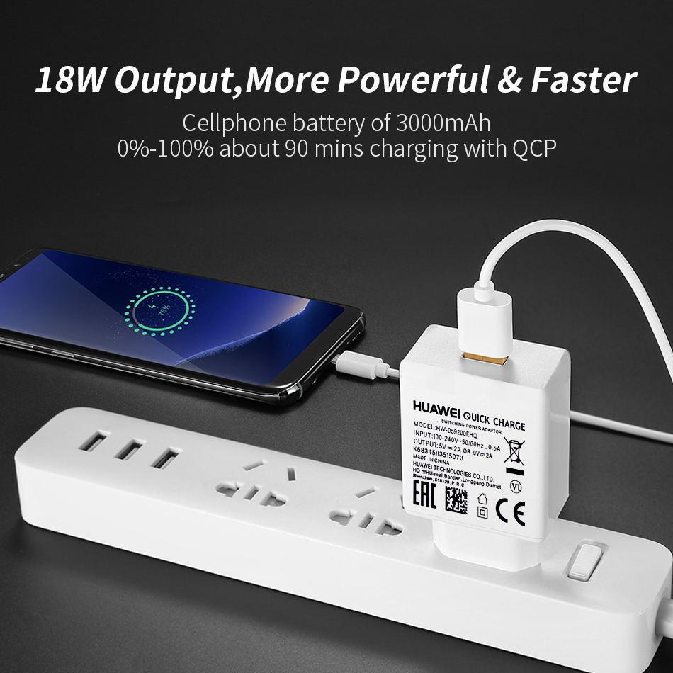 详情4Huawei Genuine Fast Charger 9V 2A QC 2.0 Quick Charge EU Adapter USB C Cable For Mate20lite p9plus honor v9 note8 nove2plus 2 3e