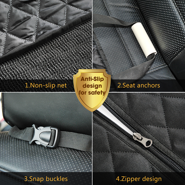 Dog car seat cover luxury quilted car travel pet dog carrier car bench seat cover waterproof pet hammock mat cushion protector