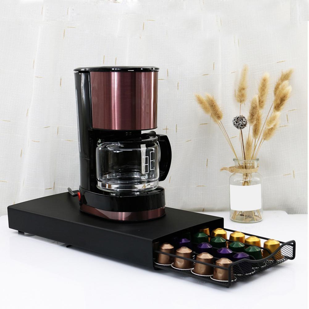 Storage Organizer Lightweight Drawer Styles Non-fading 40 Pods Coffee Capsule Storage Stand for Nespresso