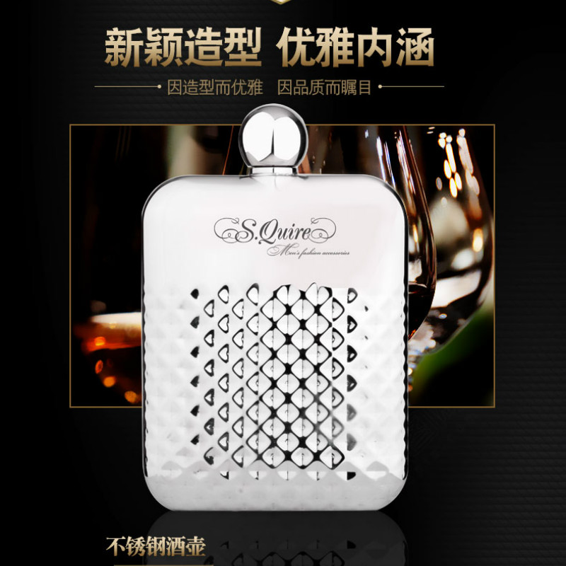 Whisky Mini Hip Flask Personalized Engraving Mini Portable Hip Flask Stainless Whiskey Gourde Inox Bridesmaid Gift JJ60JH