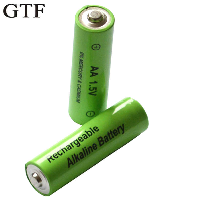 GTF 1.5V 3000mah AA Battery Alkaline Rechargeable Battery For Flashlight Heaslamp Toy Rechargeable Batteries Cr123a Aa Batteria