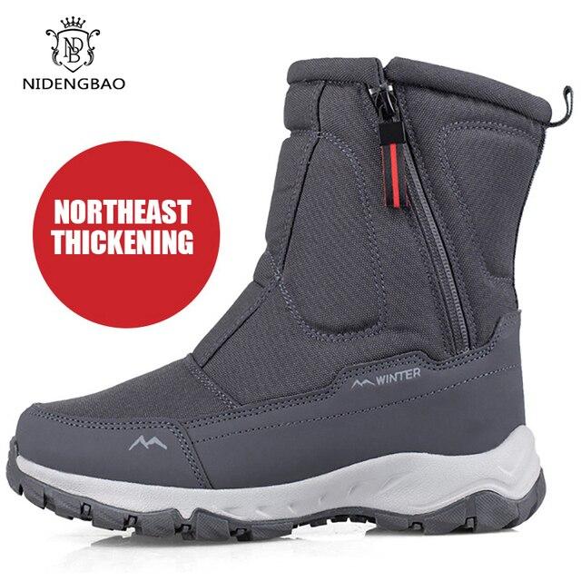 Men Boots 2020 Winter Shoes For Men Warm Snow Boots Mid-calf Men Shoes Thick Plush Winter Boots For -40 degrees Men Cotton Shoes