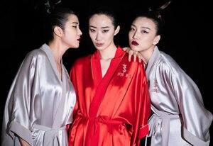 Image 3 - Jusere Bridal Zijden Gewaad Pyjama Gepersonaliseerde Gewaad Diverse Kleur Bespoken Gewaad
