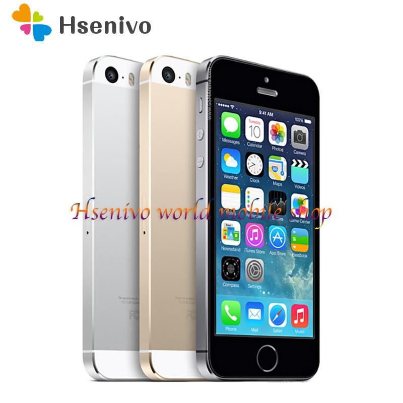 "Used Apple Iphone 5S Unlocked Cell Phone 4.0"" screen 1GB RAM 16GB/32GB/64GB ROM Touch ID Fingerprint|Cellphones| - AliExpress"