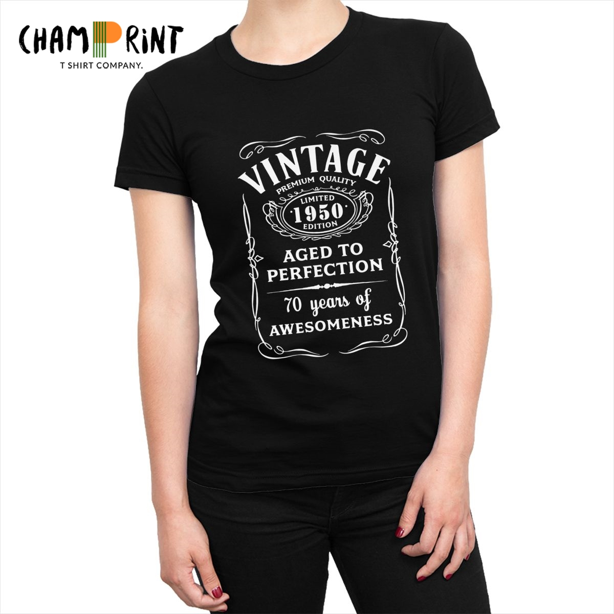 Limited 1950 Edition Women's T-<font><b>shirts</b></font> 70th <font><b>Birthday</b></font> Gift Harajuku T <font><b>Shirts</b></font> <font><b>70</b></font> Years Old Tops Tees Awesome Big Size Clothing image