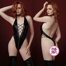 Womens Sexy Jumpsuit V-neck Halter Cross Strap With Thong Jumpsuits For Ladies