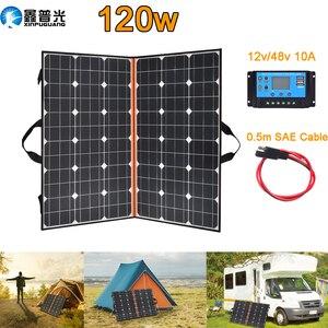 Image 2 - солнечная батарея на телефон панель 12v Складной набор солнечных панелей 100 Вт 120 Вт 150 Вт 12 В портативное солнечное зарядное устройство домашняя система 5 в USB телефон для RV Автомобиля Караван лодки