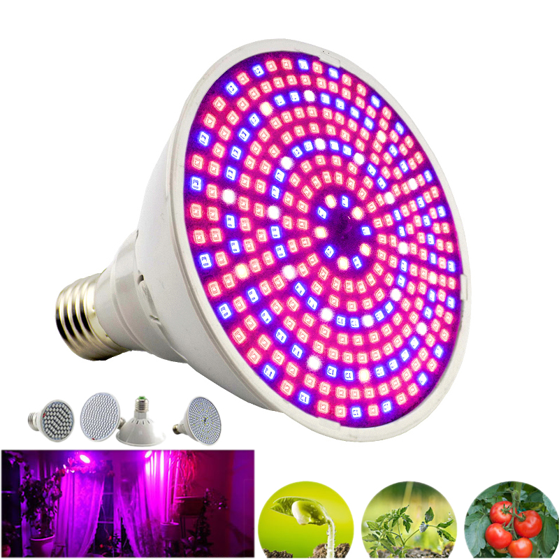 Full Spectrum Led Grow Light Bulbs E27 Plant Growing Lights Lamp for indoor Hydroponics Room cultivo Vegetable Flower Greenhouse(China)