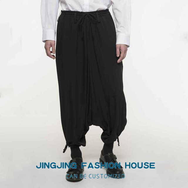 S-6XL!!New style male youth personality harun baggy pants low crotch casual pants men's pants loose nine pants 1