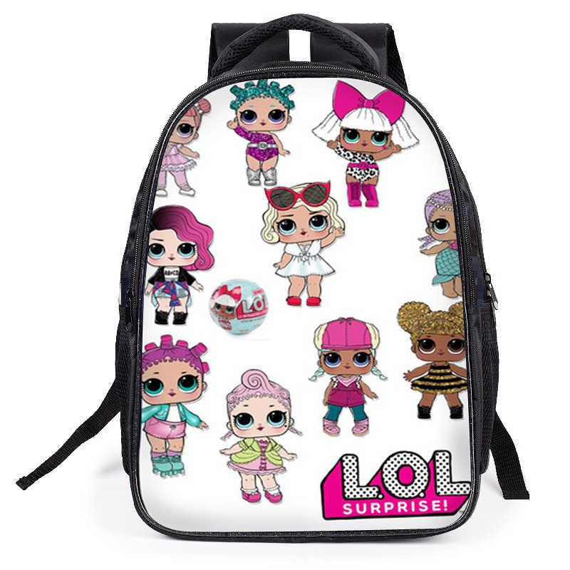 Mochila personalizable L. O. L. ¡Sorpresa! Lol sorpresa muñeca juguetes figura de acción chico bolsa mochila escolar juguete regalo de cumpleaños