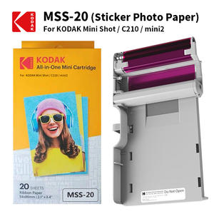 KODAK Paper Photo-Printer Mini No Leverage-4pass Ink-Sticker Cartridges-Set Package Shot