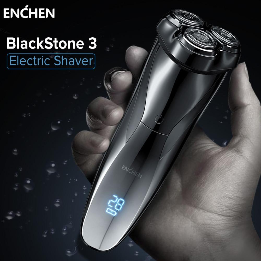 ENCHEN Electric Shavers Razor Blackstone 3 Shaving Machine For Men Beard Trimmer Triple Blade Rechargeable Wet dry Dual Use Электробритвы      АлиЭкспресс