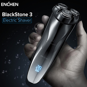 ENCHEN Electric Shavers Razor Blackstone 3 Shaving Machine For Men Beard Trimmer Triple Blade Rechargeable Wet-dry Dual Use - discount item  56% OFF Personal Care Appliances