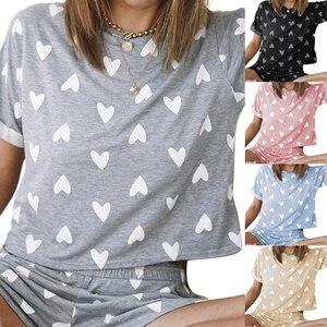 Женские комплекты одежды для сна, милые домашние костюмы, пикантный пижамный комплект с коротким рукавом, Женская пижама, удобная летняя пижама для девочек