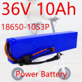 36V10Ah 18650 lithium battery pack 10S3P 600W or less, suitable for scooter E Twow scooter m365 pro ebike backup power supply