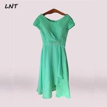 Cap Sleeves Mint Green Short Mother Bridesmaid Dress Knee Le