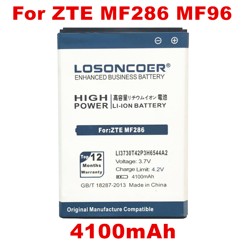 MF286 SRQ-Z289L 3000mAh Battery Replacement for ZTEMF279 P//N LI3730T42P3h6544A2 MF96 MF96U