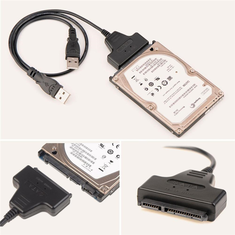 SATA TO USB Hard Drive Cable HDD USB/Hard Drive Adapter USB2.0 TO SATA Adapter Hard Disk 22PIN SATA Cable Molex D8