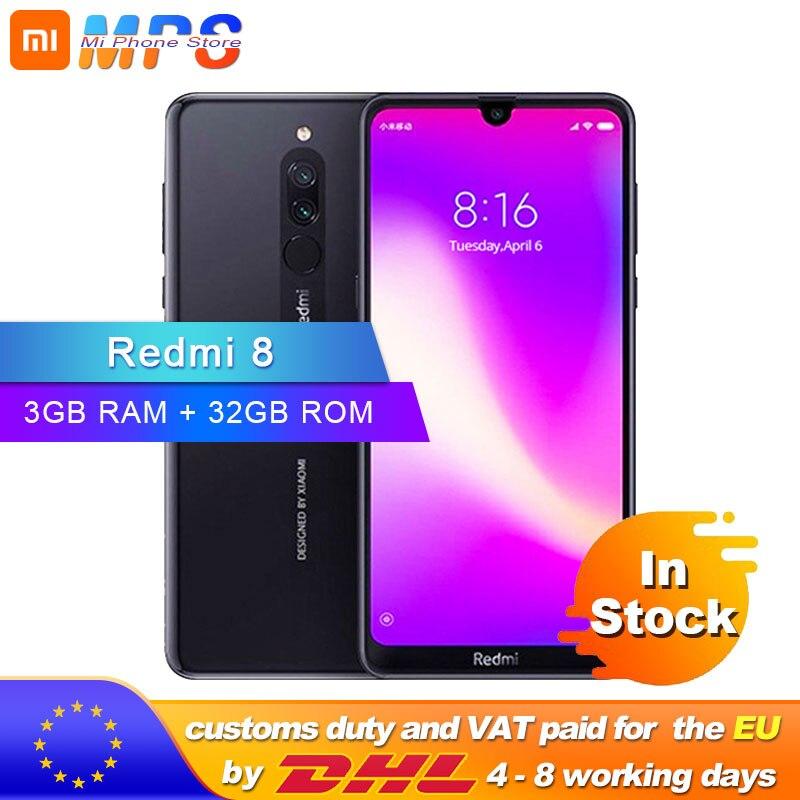 Global Rom Xiaomi Redmi 8 3GB 32GB Snapdragon 439 Octa Core 12MP Dual Camera Mobile Phone 5000mAh