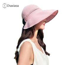 Hats Visor-Hat Fisherman-Caps Beach-Sunscreen Summer Women's Korean CHAXIAOA X328 Knitted