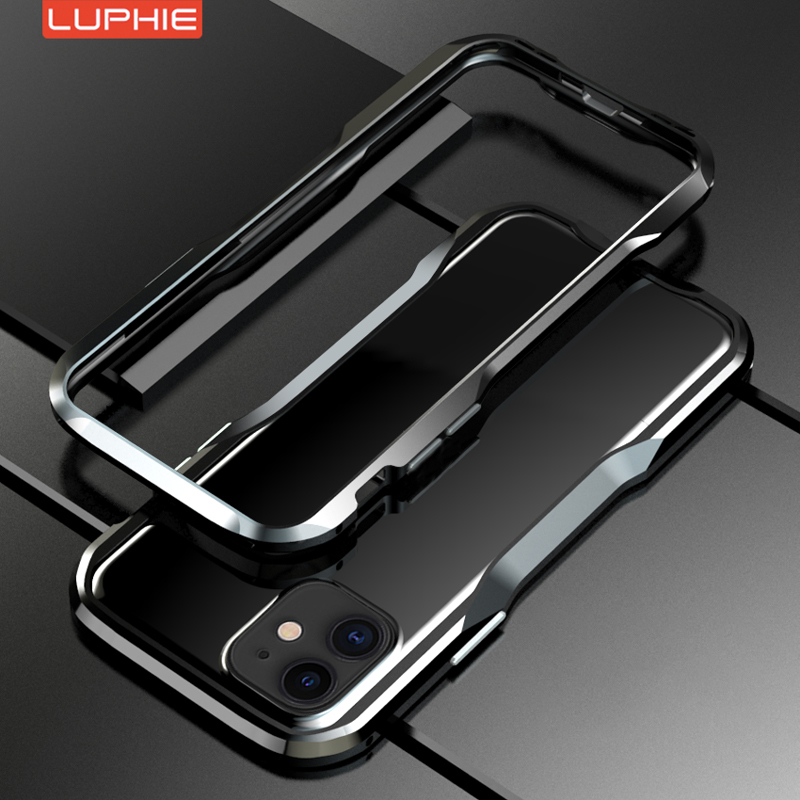 New Version Luphie Aluminum Metal Armor <font><b>Bumper</b></font> Frame Man's <font><b>Case</b></font> Cover For <font><b>IPhone</b></font> 11 PRO Max X XS XR 6 <font><b>6s</b></font> 7 8 Plus <font><b>case</b></font> image