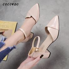 цены High-heeled Sandals Women 2020 Spring New Wild Fashion Rome Pointed Toe Tide Shoes Thick Heel Fairy Shoes Women's Shoes Spring