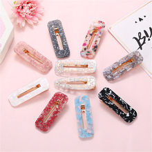 New Arrival 1PC Vintage Women Acetic Acid Hair Clips Hairpins Leopard Print Waterdrop Barrettes Girls Hairgrips Accessories