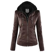 Faux Leather Jacket Women 2019 Basic Jacket Coat Female Winter Motorcycle Jacket Faux Leather PU Plus Size Hoodies Outerwear