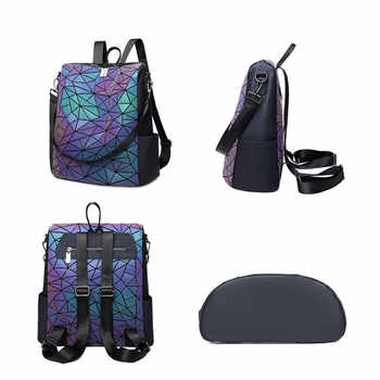 Luminous Backpack for women high capacity Backpacks for Teenage boy Girls brand Designer Shoulder Bag ladies travel bag mochila