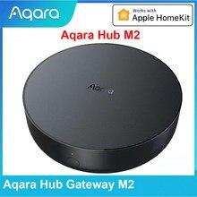 Aqara hub gateway m2 zigbee 3.0 wifi dupla antena app controle remoto para casa inteligente trabalho de segurança em casa apple homekit aqara app