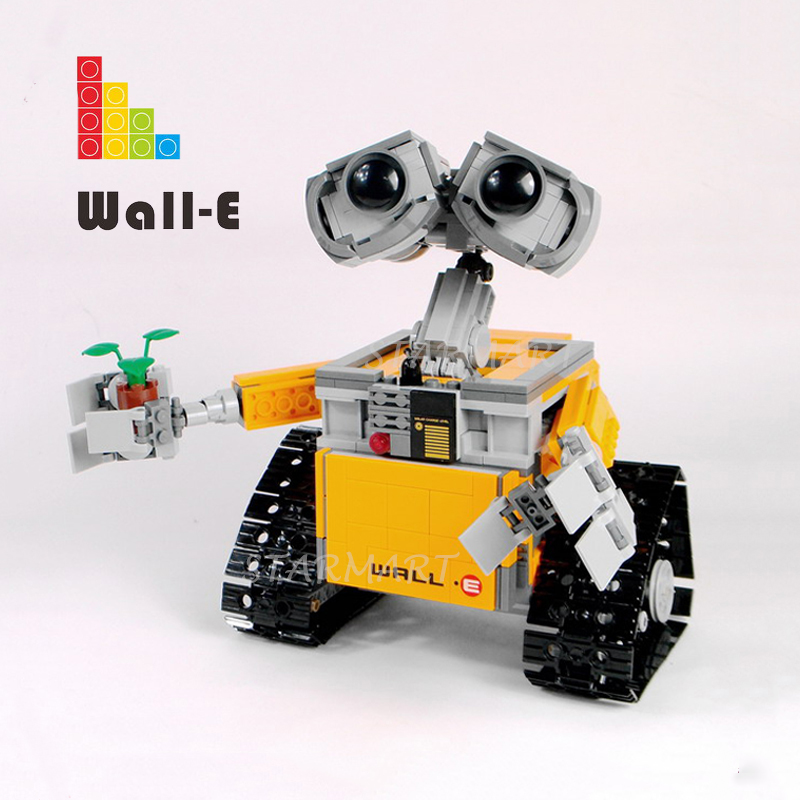 Lepinblocks 16003 WALL-E Ideas Robot <font><b>21303</b></font> Toys <font><b>legoinglys</b></font> Building Bricks Blocks Educational Birthday Gifts Oscar Movie Series image
