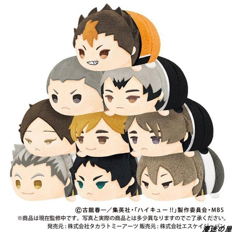 Stuffed Anime Haikyuu To The Top Mochi Mascot 8.5cm Dolls Karasuno VS Inarizaki Atsumu Miya Brothers Plush Bag Pendant Gift Toys