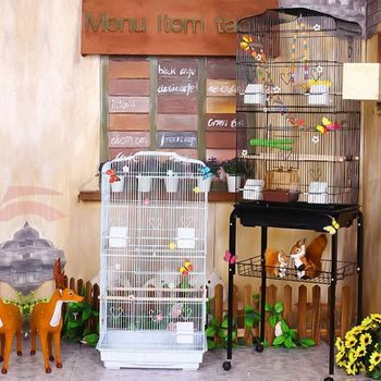 Multicolor Optional European Luxury Parrot Cage Bird Cage Budgie Parrot Myna Xuanfeng Large Giant Oversized Villa Breeding Cage
