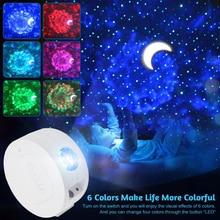 Led-Projector-Light Night-Lamp Starry Sky Home-Decor Moon-Star Kids Bedroom Children