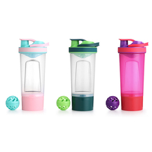 Shaker Bottle Drink Plastic Water Bottles BPA Free Gym Fitness Mixing Whey Protein Kettle Outdoor Camping Sport  Bottle For H2o new creative whey protein powder mixing bottle outdoor sports shaker fitness water bottle with three layer leakproof bpa free