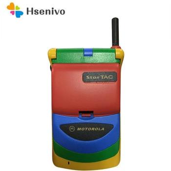 Motorola StarTAC Rainbow Refurbished-Original Unlocked Flip 2x12 chars 500mAh GSM Mobile Phone With Multi-language Free shipping 1