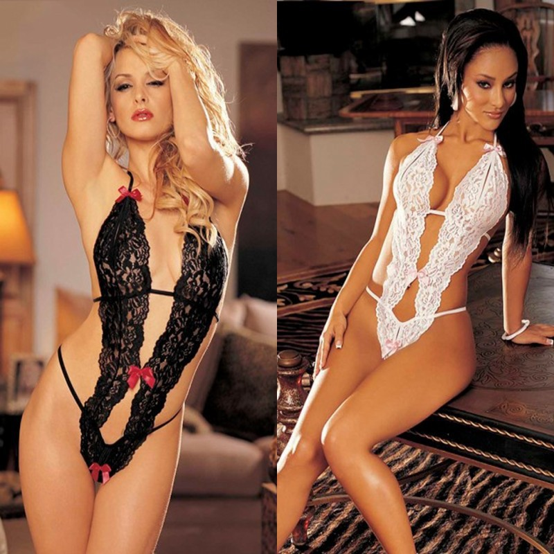 Erotic Lingerie Sexy Costumes Tight Siamese Perspective Three-Point Underwear G-string Sexy Lingerie Adult Products Body Suit