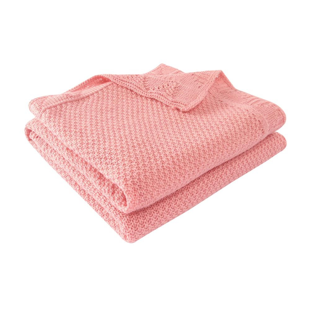 Baby Blankets Solid Knitted Newborns Bebes Swaddle Wrap Blankets 100*80cm Infantil Boys Girls Stroller Bedding Covers Quilts