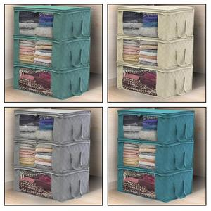 1pcs Non-Woven Fabric Quilt Blanket Travel Clothes Storage Bag Box Organizer Space Saver Home Portable Large Capacity
