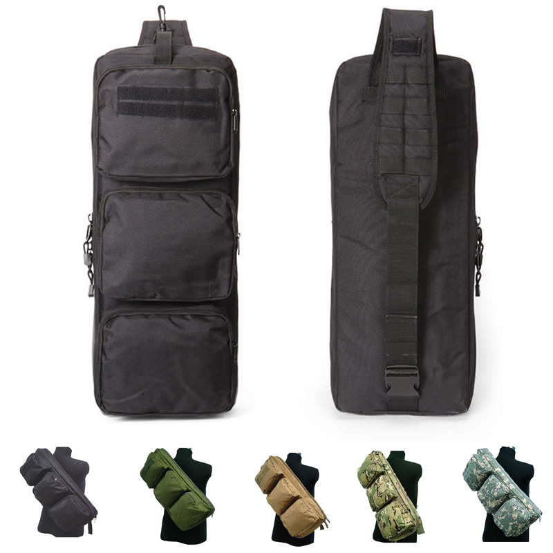 65cm Tactical Gear Hunting Bag Military Airsoft Paintball Rifle Gun Case Men Nylon Sport Crossbody
