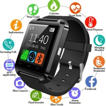2019 New Stylish U8 Bluetooth Smart Watch For iPhone IOS Android  Watches Wear Clock Wearable Device Smartwatch PK Easy to Wear цена 2017