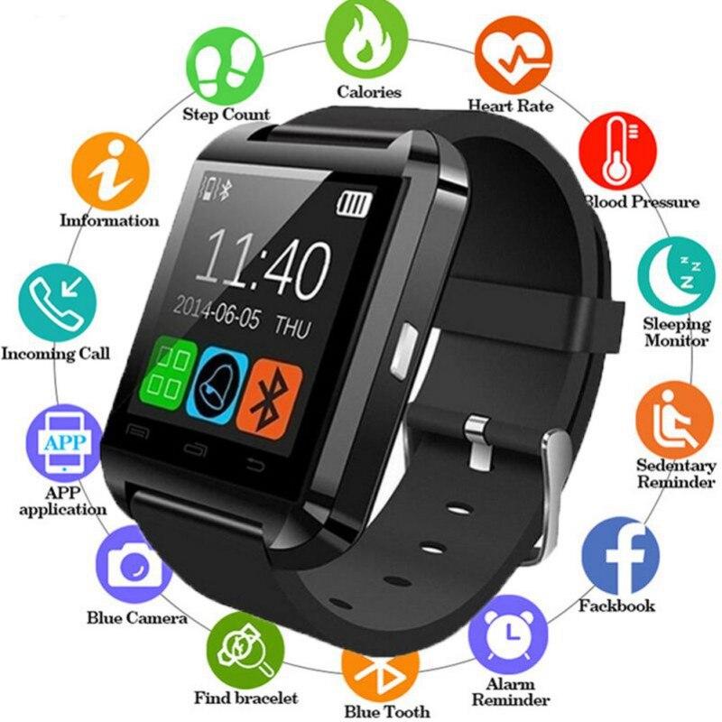 2019 Novo E Elegante U8 Relógios Vestir Relógio Do Bluetooth Relógio Inteligente Para IOS iPhone Android Dispositivo Wearable Smartwatch PK fácil desgaste