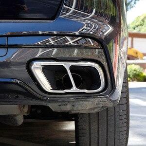 Image 3 - Für BMW X5 X7 G05 G07 2019 2021 Edelstahl Silber/Schwarz Auto Schwanz rohre Auspuffrohr Schalldämpfer abdeckung Aufkleber Auto Zubehör