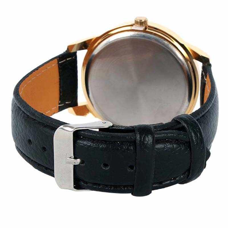 ترف نساء ساعات الماس الذهبي العلامة التجارية السيدات ساعة كوارتز حلقة من جلد بسيط ساعة معصم Relogio Masculino reloj mujer