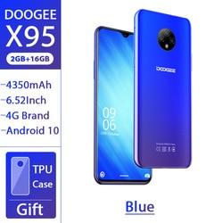 DOOGEE X95 смартфон 6,52 ''MTK6737 2 Гб 16 Гб 13 МП Тройная камера 4350 мАч Android 10 OS 4G LTE мобильный телефон