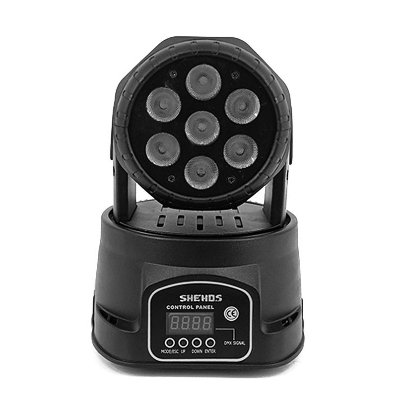 Image 2 - High Quality LED Mini Moving Head Wash Light 7X12W RGBW 4in1 Moving Heads DMX stage light stroboscope DJ Nightclub Party Concert-in Stage Lighting Effect from Lights & Lighting